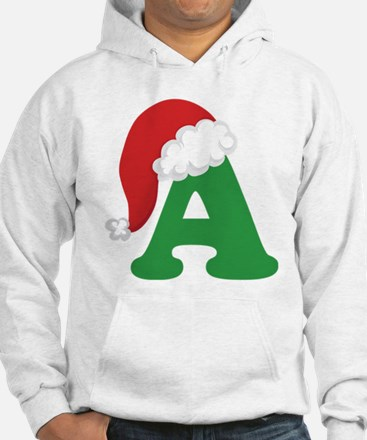 Christmas Letter A Alphabet Hoodie