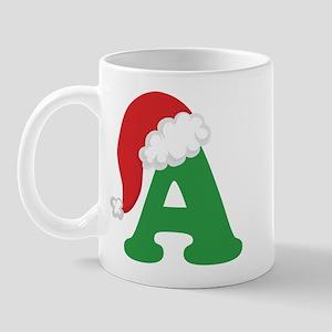 Christmas Letter A Alphabet Mug