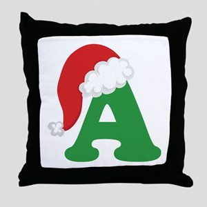 Christmas Letter A Alphabet Throw Pillow