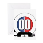 Cars Round Logo Greeting Cards (Pk of 10)