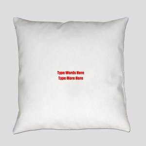 Write Your Own Red Text Everyday Pillow