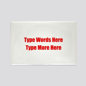Write Your Own Red Text Rectangle Magnet