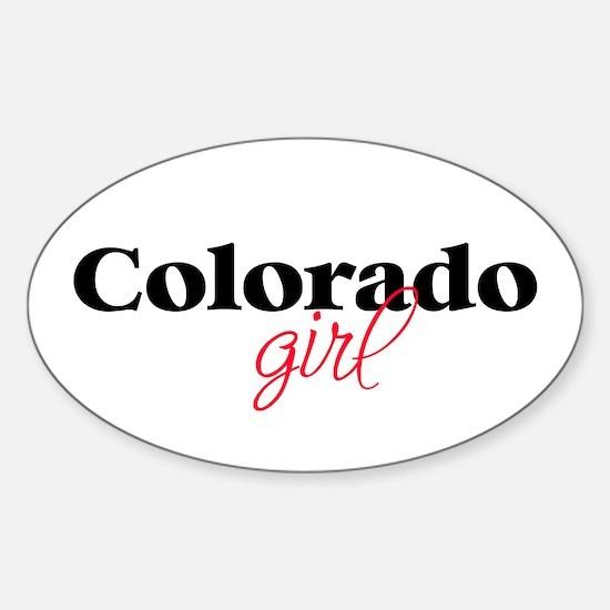 Colorado girl (2) Oval Decal