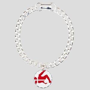 Denmark Soccer Charm Bracelet, One Charm