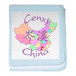 Cenxi China Map baby blanket