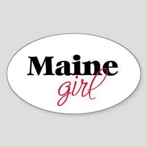 Maine girl (2) Oval Sticker