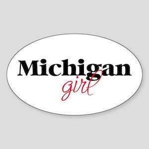 Michigan girl (2) Oval Sticker