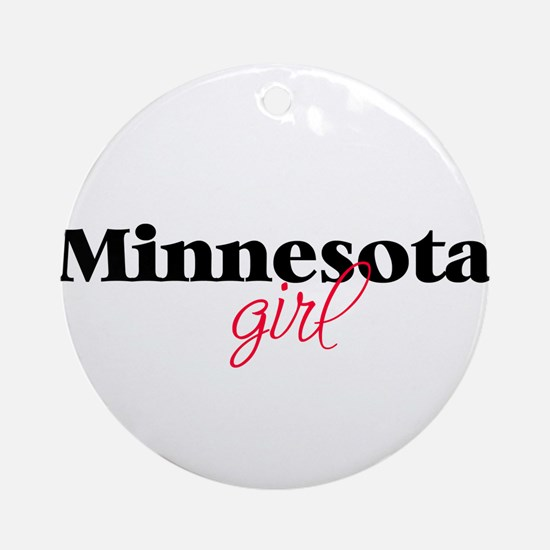 Minnesota girl (2) Ornament (Round)