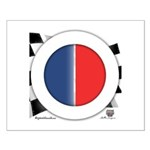 Cars Round Logo Blank Small Poster