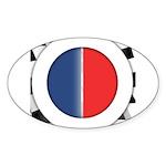 Cars Round Logo Blank Sticker (Oval 10 pk)