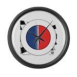 Cars Round Logo Blank Large Wall Clock