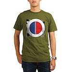 Cars Round Logo Blank Organic Men's T-Shirt (dark)