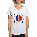 Cars Round Logo Blank Women's V-Neck T-Shirt