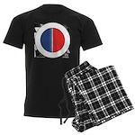 Cars Round Logo Blank Men's Dark Pajamas