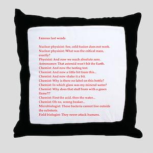 funny genius jokes Throw Pillow