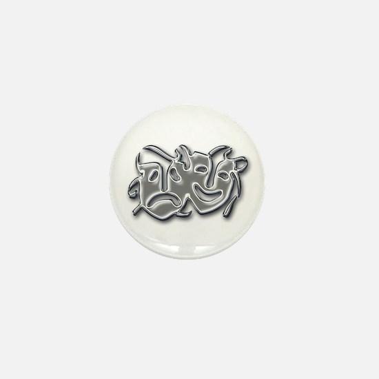 Theatre Masks Mini Button