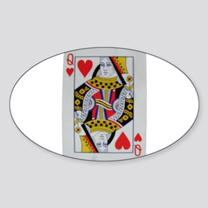 QUEEN OF HEARTS Sticker (Oval)