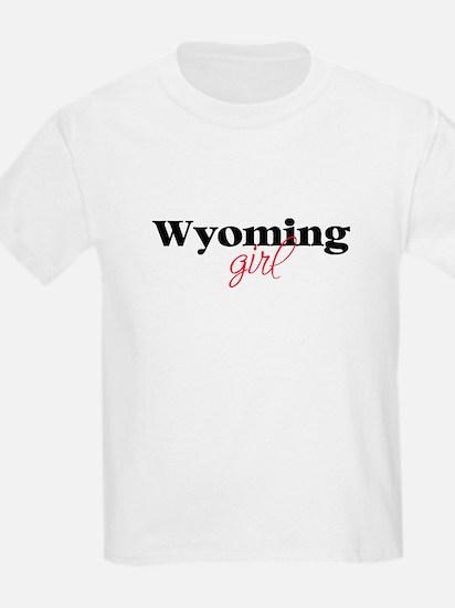Wyoming girl (2) Kids T-Shirt