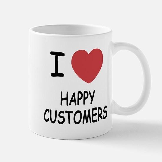 I heart happy customers Mug