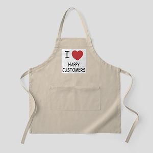 I heart happy customers Apron