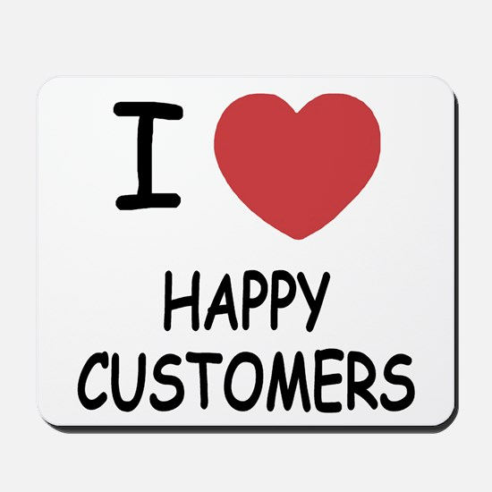 I heart happy customers Mousepad