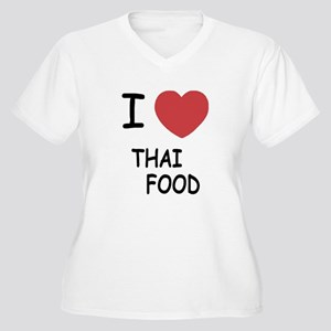 I heart thai food Women's Plus Size V-Neck T-Shirt