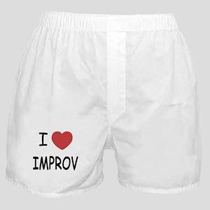 I heart improv Boxer Shorts