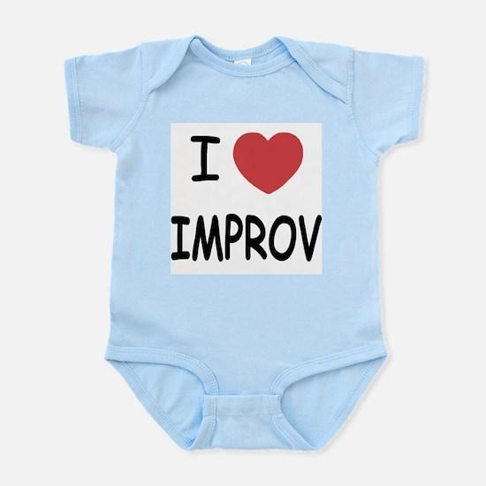 I heart improv Infant Bodysuit