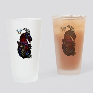 Capricorn Zodiac Seagoat Art Drinking Glass