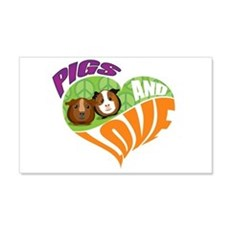 Pigs and Love 22x14 Wall Peel