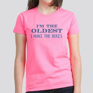 I'm The Oldest Women's Dark T-Shirt