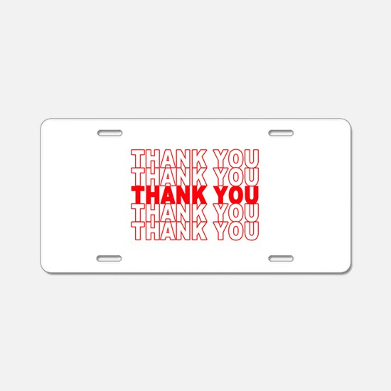 Thank You Aluminum License Plate