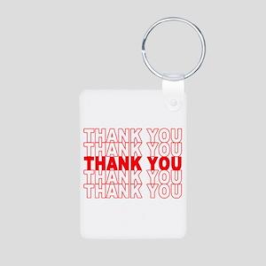 Thank You Aluminum Photo Keychain