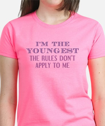 I'm The Youngest Women's Dark T-Shirt