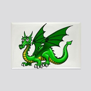 Green Dragon Rectangle Magnet