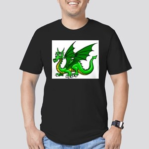 Green Dragon Men's Fitted T-Shirt (dark)