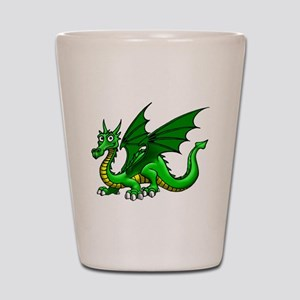 Green Dragon Shot Glass