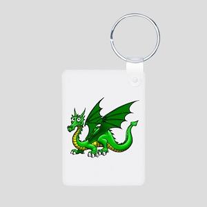 Green Dragon Aluminum Photo Keychain