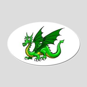 Green Dragon 22x14 Oval Wall Peel