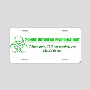 Zombie Response Aluminum License Plate