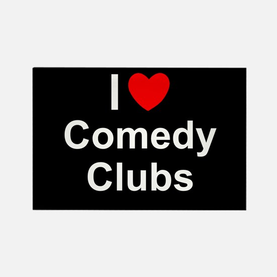 Comedy Clubs Rectangle Magnet