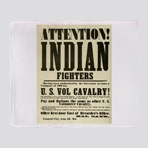 Indian Fighters Throw Blanket