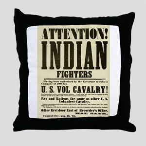 Indian Fighters Throw Pillow