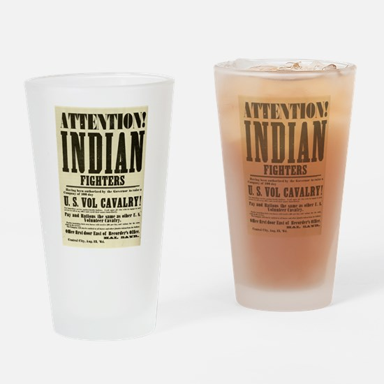 Indian Fighters Drinking Glass