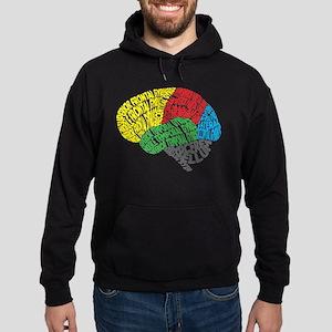 Your Brain (Anatomy) on Words Hoodie (dark)