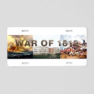 War of 1812 Aluminum License Plate