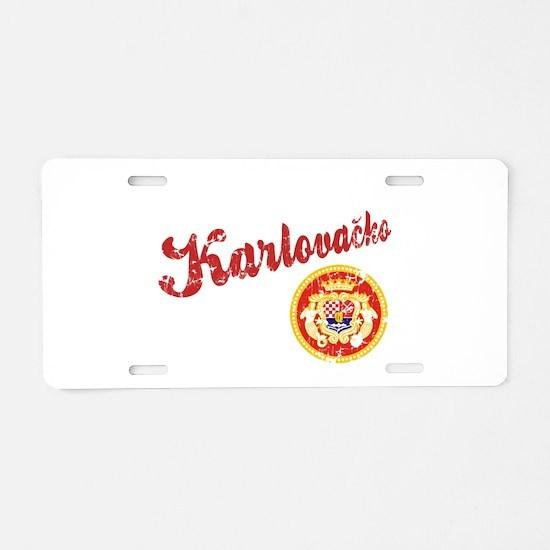 Karlovacko Aluminum License Plate