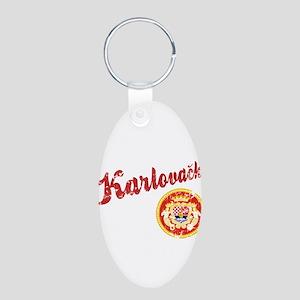 Karlovacko Aluminum Oval Keychain