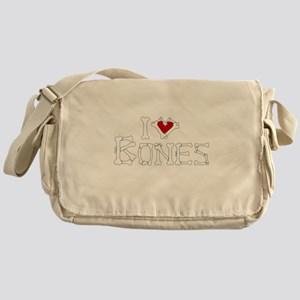 I Love Bones Messenger Bag