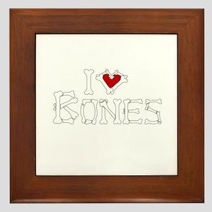 I Love Bones Framed Tile